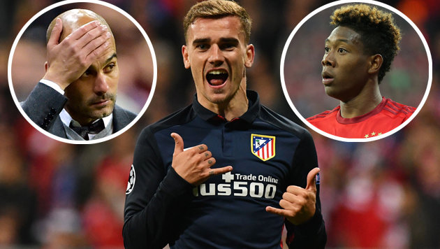Atletico reißt Bayern München aus CL-Titelträumen! (Bild: APA/AFP/LUKAS BARTH, APA/AFP/JOHN MACDOUGALL, GEPA)