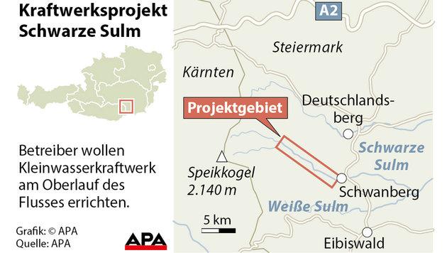 Schwarze Sulm: EuGH kippt Umwelt-Klage aus Brüssel (Bild: APA)