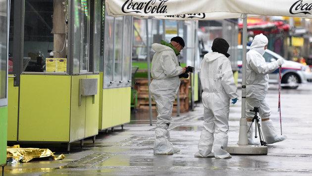 Tatort Brunnenmarkt in Wien: Hier wurde Maria E. von einem Asylwerber erschlagen. (Bild: APA/HERBERT P. OCZERET)