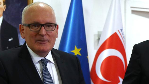Frans Timmermans, Vizepräsident der EU-Kommission (Bild: APA/AFP/Adem Altan)