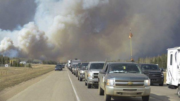Kanada: 100.000-Einwohner-Stadt evakuiert (Bild: Associated Press)