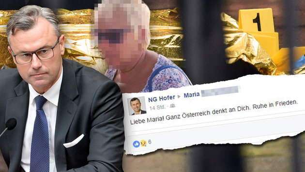 Eisenstangen-Mord: Das schreibt Hofer an das Opfer (Bild: APA/ROLAND SCHLAGER, APA/HERBERT P.OCZERET, Privat, facebook.com)