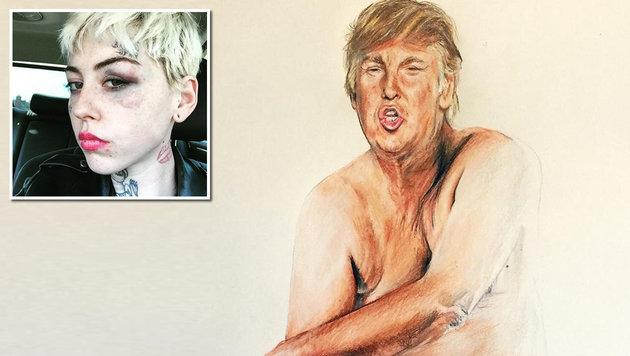 """Künstlerin: """"Ich wurde von Trump-Fans verprügelt"""" (Bild: instagram.com/illmagore)"""