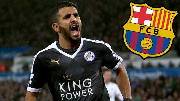 "Leicesters Mahrez zu Barca? ""Chancen stehen 50:50"" (Bild: APA/AFP/GEOFF CADDICK, FC Barcelona)"