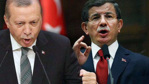 Regierungschef Davutoglu zog im Streit mit Staatschef Erdogan den Kürzeren. (Bild: AFP/ADEM ALTAN)