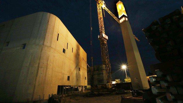 Das in Bau befindliche islamische Kulturzentrum in der Grazer Laubgasse, aufgenommen im Jahr 2014 (Bild: Jürgen Radspieler)