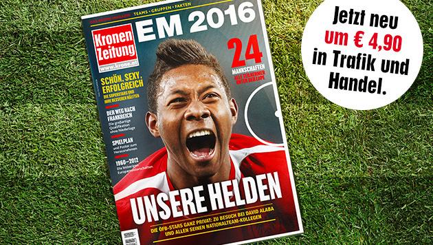 EURO 2016: Unsere Helden (Bild: Krone Grafik)