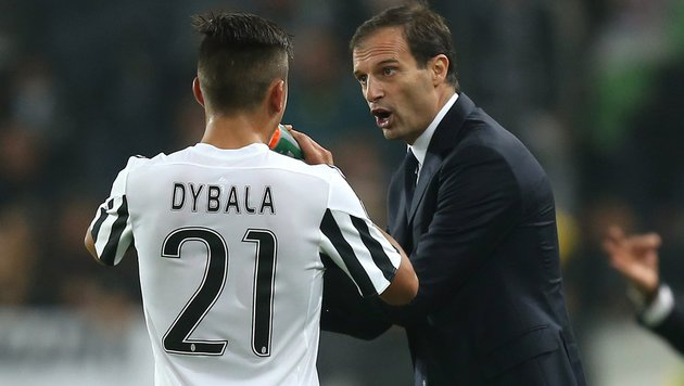 Juve-Trainer Allegri verlängert Vertrag bis 2018 (Bild: APA/AFP/MARCO BERTORELLO)