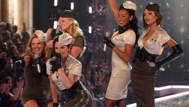 Spice Girls mit Victoria Beckham (ganz rechts) (Bild: GABRIEL BOUYS/AFP/picturedesk.com)