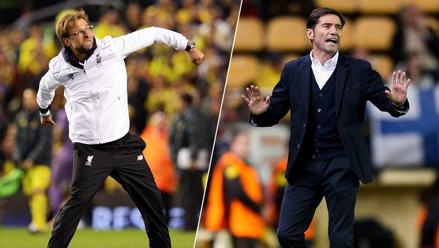 Villarreal-Coach ätzt nach Niederlage gegen Klopp (Bild: APA/AFP/OLI SCARFF, GEPA pictures/Philipp Brem)