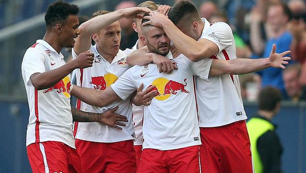 Red Bull Salzburg - schon 5 Jahre ohne Niederlage! (Bild: APA/KRUGFOTO)