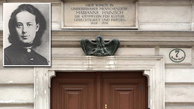 """Marianne Hainisch gilt als """"Mutter des Muttertags"""" in Österreich. (Bild: Wikipedia/Volkshochschularchiv, Wikipedia/Peter Haas)"""