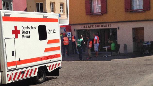 Vor diesem Café ereignete sich der dramatische Zwischenfall. (Bild: APA/dpa/Frm)