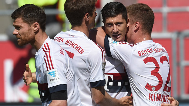 Bayern München & Alaba zum 4. Mal in Folge Meister (Bild: APA/AFP/CHRISTOF STACHE)