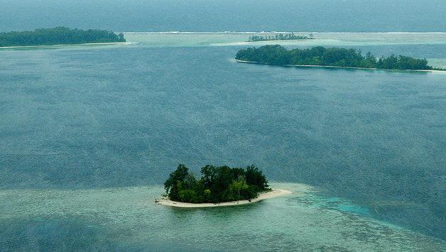 Stark ansteigender Meeresspiegel sowie Küstenerosion bedrohen die Salomonen. (Bild: AFP)