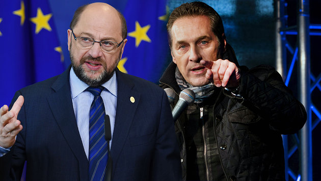 """""""Strache ist ein Mensch ohne jeglichen Respekt"""" (Bild: AFP/JOHN THYS, AFP/JOE KLAMAR)"""