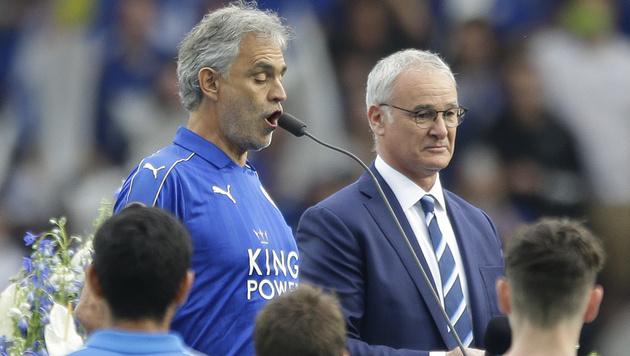 Leicester City: Meisterfeier mit Andrea Bocelli (Bild: AP)