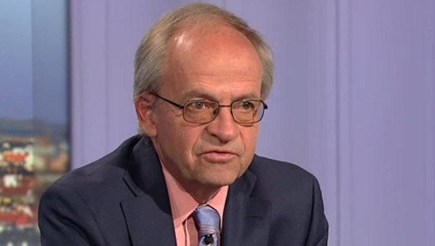 """Wifo-Chef Karl Aiginger in der """"Pressestunde"""" (Bild: tvthek.orf.at)"""