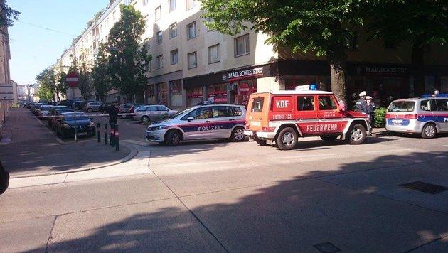 "Terroralarm bei Minister Sebastian Kurz in Wien (Bild: ""Krone""-Leserreporter)"