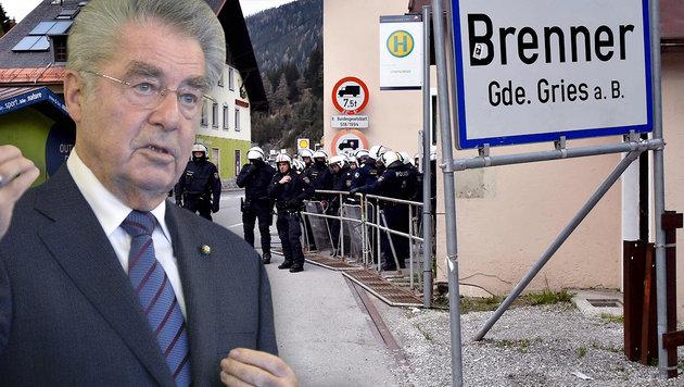 """Fischer: """"Keine Schließung der Brenner-Achse"""" (Bild: AFP/GIUSEPPE CACACE, APA/HANS KLAUS TECHT)"""