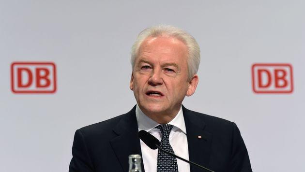 Deutsche-Bahn-Chef Rüdiger Grube (Bild: APA/AFP/JOHN MACDOUGALL)