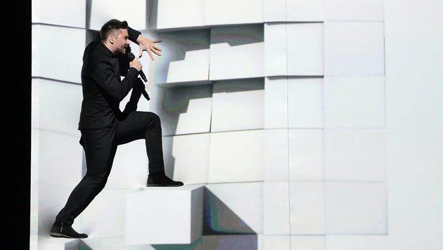 "Sergey Lazarev singt ""You Are The Only One"" für Russland. (Bild: APA/AFP/TT News Agency/MAJA SUSLIN/TT)"