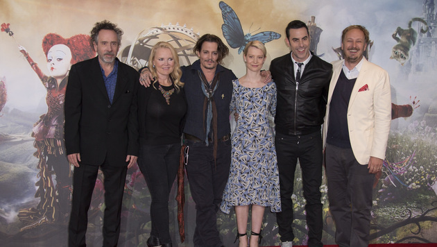 """Alice""-Crew: Burton, Todd, Depp, Wasikowska, Cohen und Bobin (Bild: ASSOCIATED PRESS)"