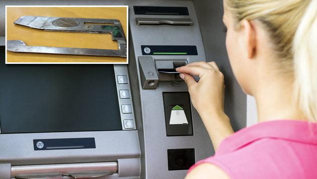 Neue Bankomat-Wanzen sind dünn wie Rasiermesser (Bild: krebsonsecurity.com , thinkstockphotos.de)