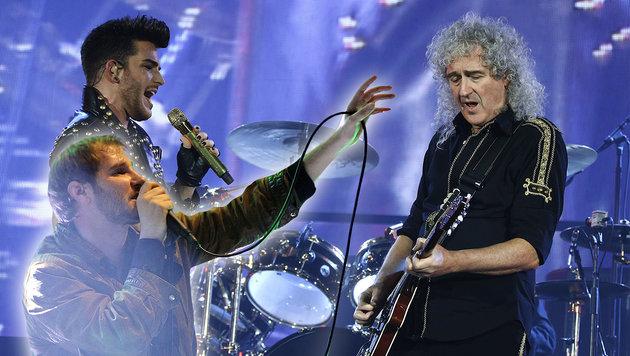 Queen: Rock-Feuerwerk in der Stahlhauptstadt (Bild: APA/Hans Punz, AFP/Thomas Samson)