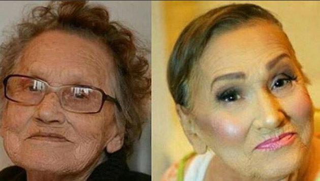 Um Jahrzehnte jünger: Oma (80) wird zu Hit im Netz (Bild: Screenshot/Instangram)