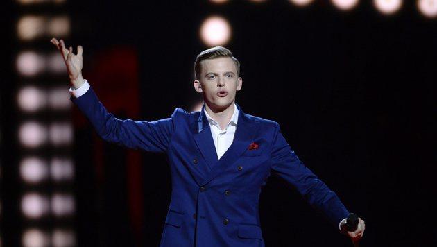 "Estland schickt Jüri Pootsmann mit ""Play"" ins Rennen. (Bild: APA/AFP/TT News Agency/MAJA SUSLIN/TT)"