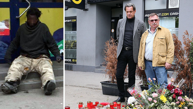 """Francis N. (li.); Anwalt Boran kämpfte mit Witwer Franz E. um Begräbnis- und Trauerschmerzkosten. (Bild: """"Krone"""", Zwefo)"""