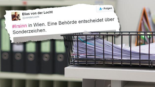 Sonderzeichen nicht erlaubt: Nun Namensänderung! (Bild: thinkstockphotos.de, twitter.com/vonderLocht)