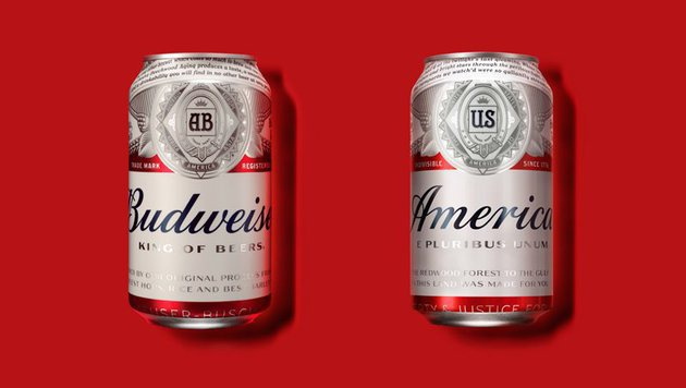 "USA: ""Budweiser"" heißt bis zur Wahl ""America"""" (Bild: twitter.com/JoesDaily)"