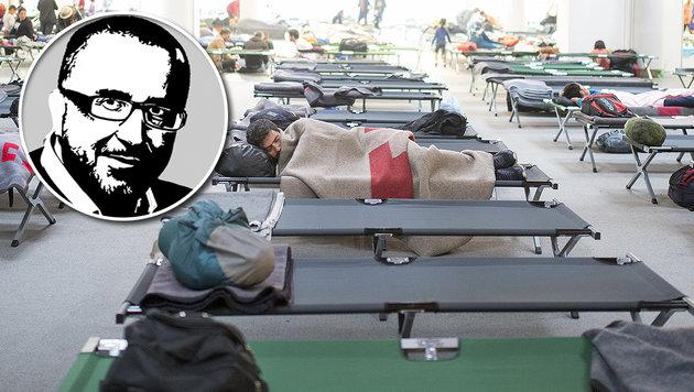 Wien: Wie die Asylkosten verniedlicht werden (Bild: APA/ERWIN SCHERIAU, Kronen Zeitung)