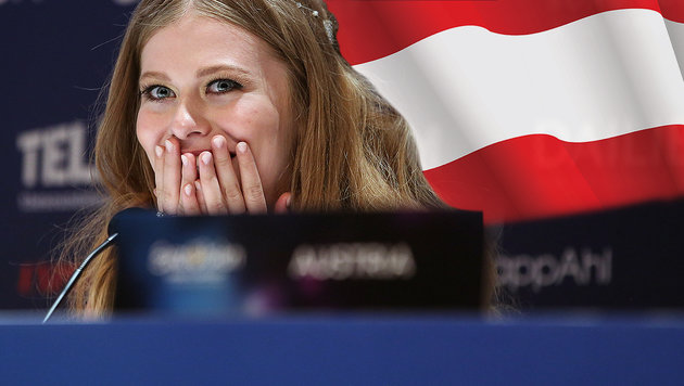 """Zoe singt französisch! Mit FPÖ abgestimmt?"" (Bild: APA/ORF/MILENKO BADZIC, thinkstockphotos.de)"