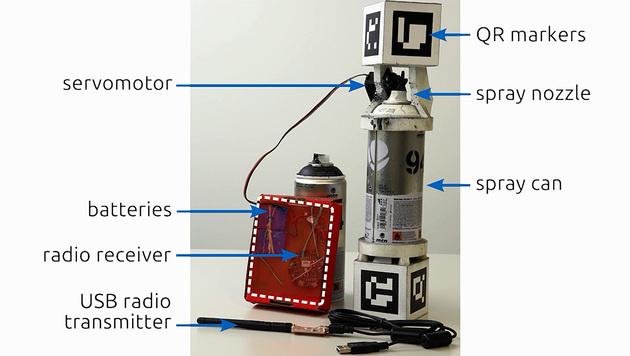 Noch wirkt die smarte Sprühdose etwas klobig. (Bild: dartmouth.edu)