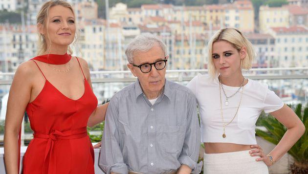 Blake Lively, Woody Allen und Kristen Stewart (Bild: APA/AFP/ALBERTO PIZZOLI)