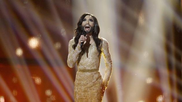 Conchita bei ihrem Auftritt beim ESC 2014 (Bild: AP)