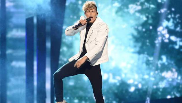 Litauen schickt Donny Montell mit 'I've Been Waiting for This Night' ins ESC-Rennen. (Bild: APA/AFP/TT News Agency/MAJA SUSLIN/TT)
