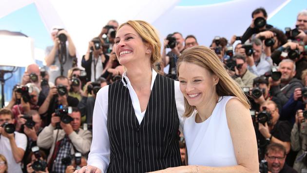 Auch bei Julia Roberts und Jodie Foster stimmt die Chemie. (Bild: AP)