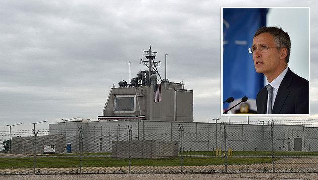 "NATO-Chef Stoltenberg: ""Abwehrschirm nicht gegen Russland gerichtet"" (Bild: APA/AFP/DANIEL MIHAILESCU)"