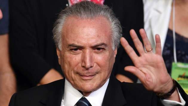 Interimspr�sident Michel Temer (Bild: APA/AFP/EVARISTO SA)