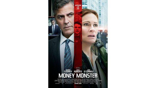 """In """"Money Monster"""" spielt Roberts eine mit Kidnapping konfrontierte TV-Produzentin (o.). (Bild: Sony Pictures)"""
