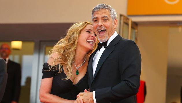 Julia Roberts und George Clooney in Cannes (Bild: Viennareport)