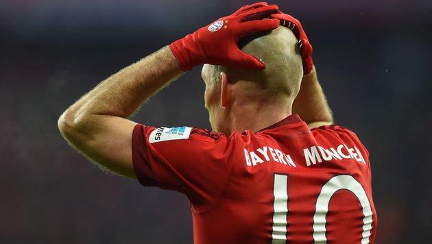 Bayern im Pokal-Finale fix ohne Arjen Robben (Bild: APA/AFP/CHRISTOF STACHE)
