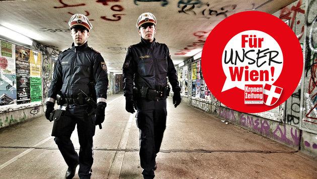 Jetzt machen wir Wien sicherer! (Bild: Reinhard Holl)