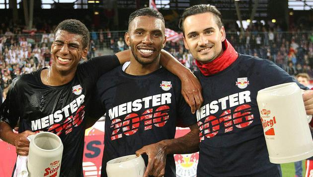 Red Bull Salzburg: Fan-Boykott bei Meisterfeier? (Bild: APA/KRUGFOTO)
