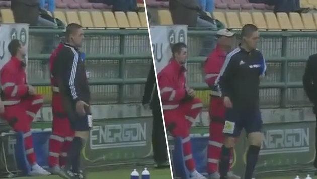 Skandal! Betrunkene Referees bei Erstliga-Spiel (Bild: YouTube.com)
