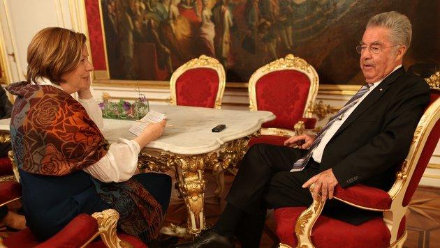 Conny Bischofberger im Gespräch mit Heinz Fischer (Bild: Gerhard Bartel)